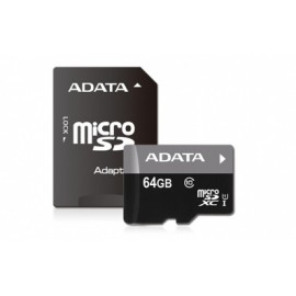Memoria Flash Adata, 64GB microSDHC UHS-I Clase 10, con Adaptador
