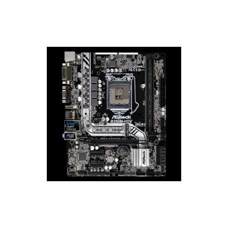 Tarjeta Madre ASRock micro ATX B250M-HDV, S-1151, Intel B250, HDMI, USB 3.0, 32GB DDR4, para Intel