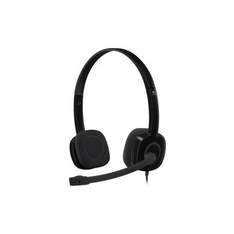 Logitech Audífonos con Micrófono H151, Alámbrico, 3.5mm, Negro