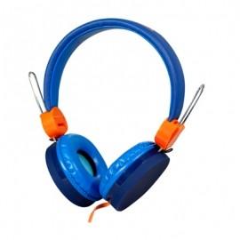 Ginga Audifonos DJ, Alámbrico, 3.5, Azul