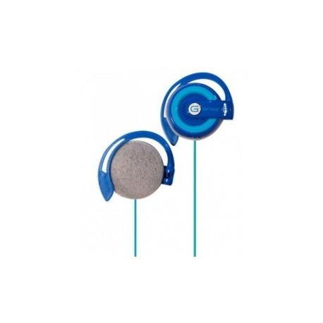 Ginga Audífonos GIN16AUDS-AA, Alámbrico, 3.5mm, Azul