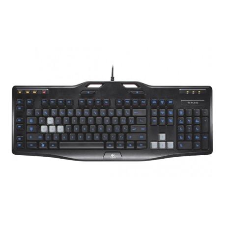Teclado Gamer Logitech G105, Alámbrico, USB, Negro (Inglés)