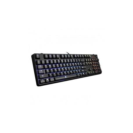 Teclado Gamer Tt eSports POSEIDON Z RGB, Brown Switch, Alámbrico, 1.8 Metros, USB, Negro (Inglés)