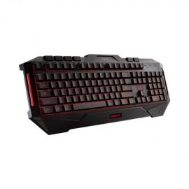 Teclado Gamer ASUS Cerberus LED Azul Rojo, Alámbrico, Negro (Inglés)