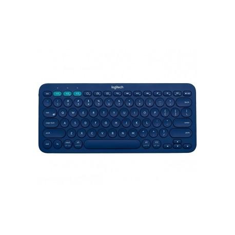Teclado Logitech Mini Multidispositivo K380, Bluetooth, Azul (Inglés)