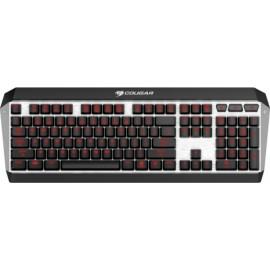 Teclado Gamer Cougar ATTACK X3 LED Rojo, Teclado Mecánico, Cherry MX, Alámbrico, Negro Plata (Inglés)