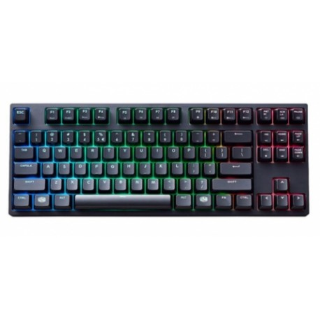 Teclado Gamer Cooler Master MasterKeys Pro S RGB, Teclado Mecánico, Cherry MX Red, Alámbrico, Negro (Inglés)