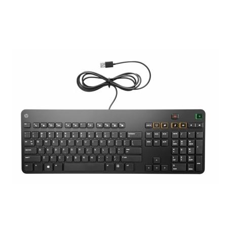 Teclado HP Conferencing Keyboard, Alámbrico, USB, Negro, (Inglés)