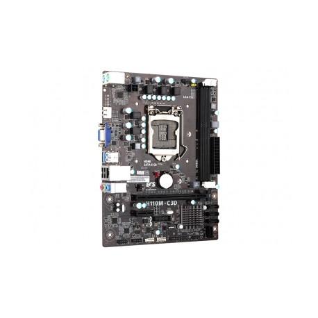 Tarjeta Madre ECS micro ATX H110M-C3D, S-1151, Intel H110, HDMI, USB 3.0, 32GB DDR3L, para Intel