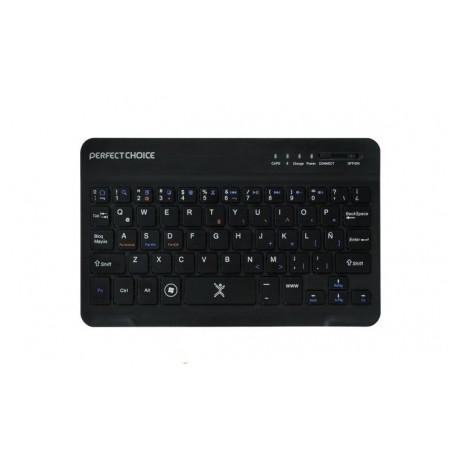 Teclado Perfect Choice Mini PC-200932, Bluetooth, USB, Negro (Español)