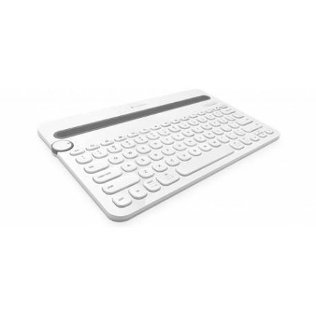 Teclado Logitech K480, Inalámbrico, Bluetooth, Blanco (Inglés)