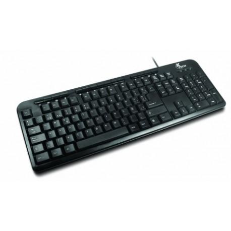 Teclado Xtech Multimedia XTK-130, Alámbrico, USB, Negro (Español)