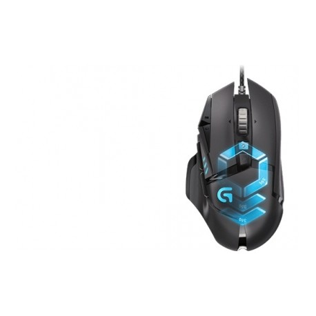 Mouse Gamer Logitech Óptico G502 Proteus Spectrum, Alámbrico, 12000DPI, USB, Negro