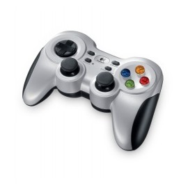 Logitech Gamepad F710, PC, Inalámbrico, Negro Plata