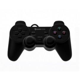 Eurocase Gamepad EUGA-30, PC, Alámbrico, USB, Negro