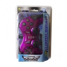 BRobotix Control para Juegos RumblePad, Alámbrico, USB 2.0, Morado