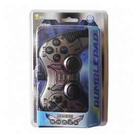 BRobotix Control para Juegos RumblePad, Alámbrico, USB 2.0, Gris