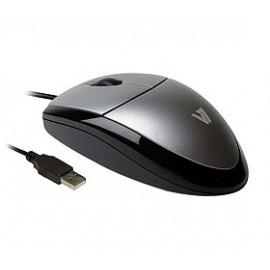 Mouse V7 Óptico MV3000010-5NC, Alámbrico, 1000DPI