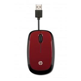 Mouse HP Óptico X1250, Alámbrico, USB, Rojo