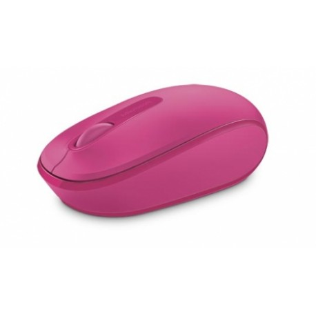 Microsoft Wireless Mobile Mouse 1850, Inalámbrico, USB, 1000DPI, Magenta