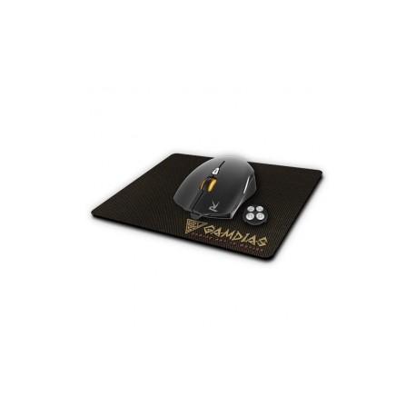 Mouse Gamer Gamdias Óptico OUREA E1  Mousepad NYX E1, Alámbrico, USB, 4000DPI, Negro