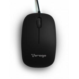 Mouse Vorago Óptico MO-206, Alámbrico, USB, 2400DPI, Negro