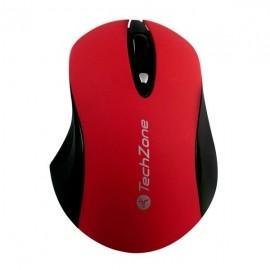 Mouse TechZone Óptico, RF Inalámbrico, 1600DPI, Rojo