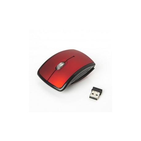 Mouse One Óptico EM-121W, Inalámbrico, USB, 1000DPI