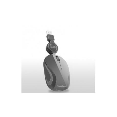 Mouse Óptico TB-01002, Alámbrico, USB, 1000DPI, Gris