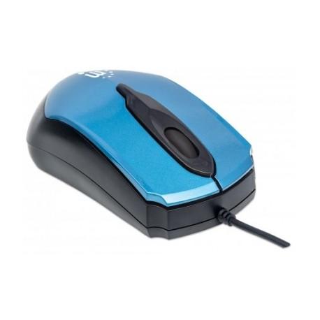 Mouse Manhattan Óptico Edge, Alámbrico, USB, 1000DPI