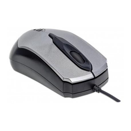 Mouse Manhattan Óptico Edge Alámbrico, USB, 1000DPI