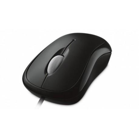 Mouse Microsoft Óptico P58-00061, Alámbrico, USB, Negro