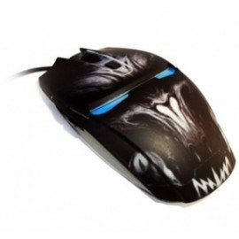 Mouse Gamer Eagle Warrior Óptico G14, Alámbrico, USB, 2400DPI, Negro