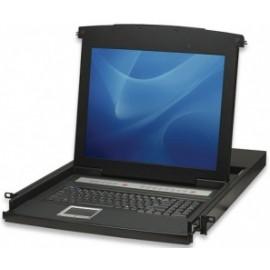 Intellinet Consola para Rack KVM VGA, 1U, 8 Puertos, Pantalla LCD de 17