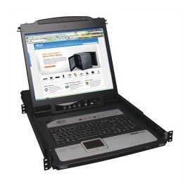 Tripp Lite Consola KVM IP NetDirector para Rack 1U, 8 Puertos, LCD 19