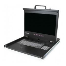 StarTech.com Consola de Rack 1U con LCD 17 HD 1080p y Concentrador Hub USB Frontal