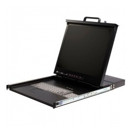 Startech.com Consola para Rack 17 1U, incluye Switch KVM de 16 Puertos