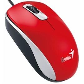 Mouse Genius Óptico DX-110, Alámbrico, USB, 1000DPI, Rojo